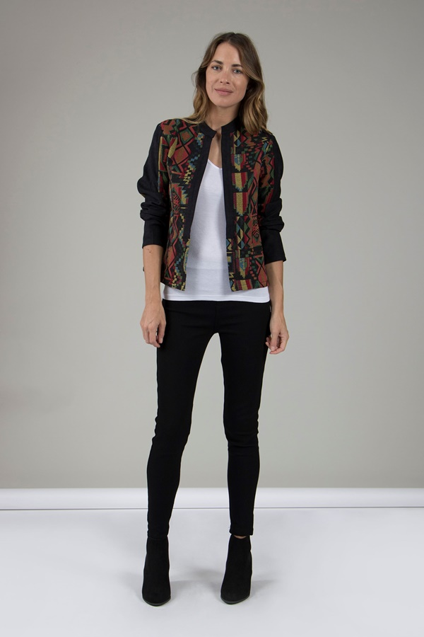 TAPESTRY OPEN FRONT JACKET