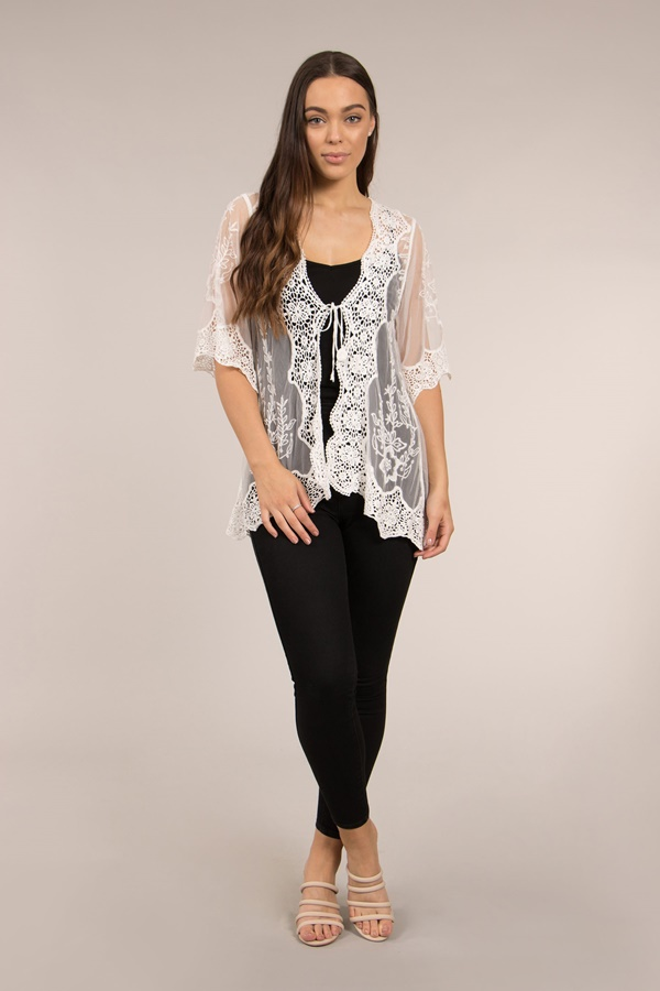 Sheer Lace Cardigan