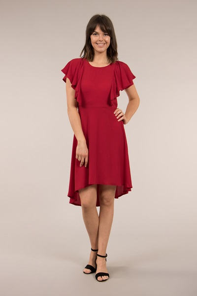 Frill Front Dress