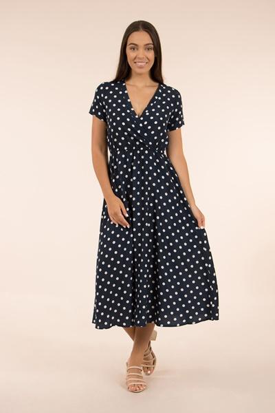Polka Dot Midi Tea Dress