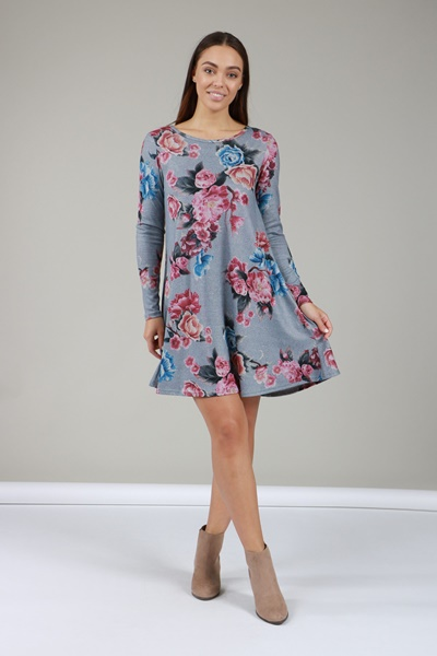 0a9fc36ba4ee4d Floral Swing Dress