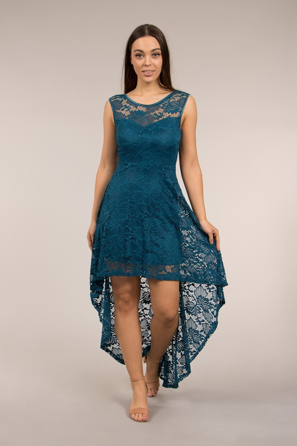 Lace Dress With Mullet Hem