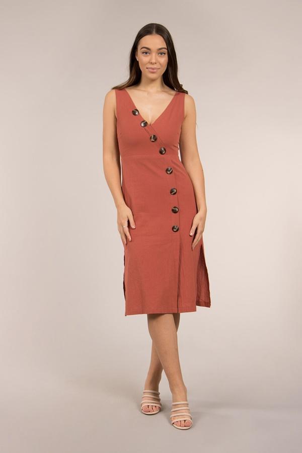 Button Through Tea Dress