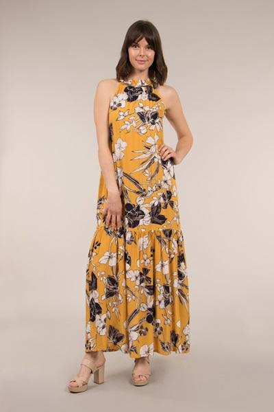 Frill  Hem Maxi Dress