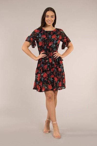 Floral & Frill Dress