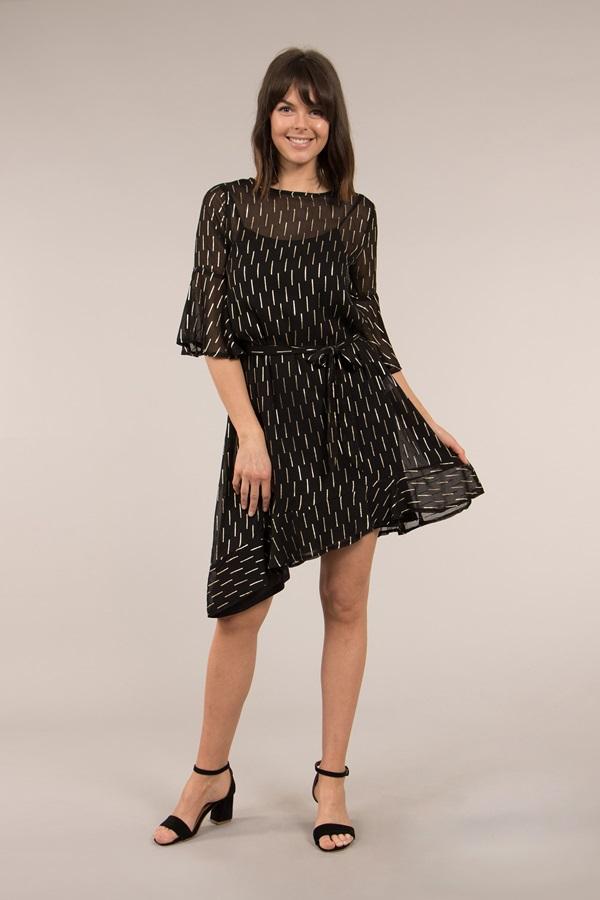 Metallic Asymmetric Dress