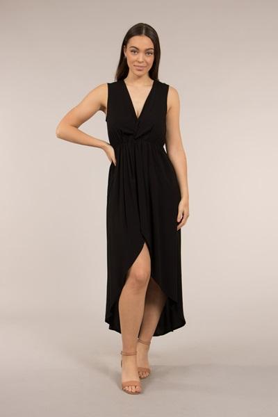 Deep V Wrap Dress