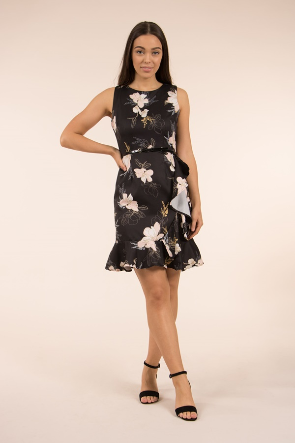 Floral & Ruffle Dress
