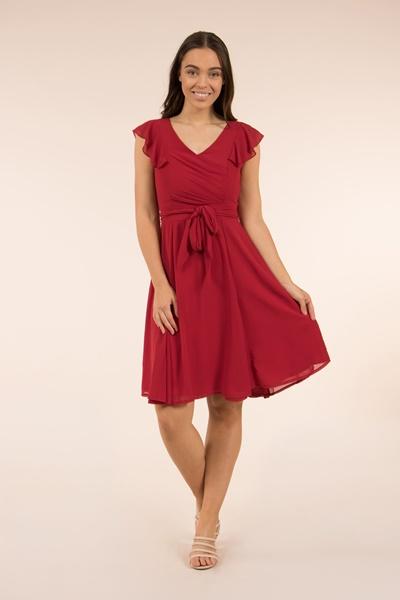 Tie Waist Tea Dress