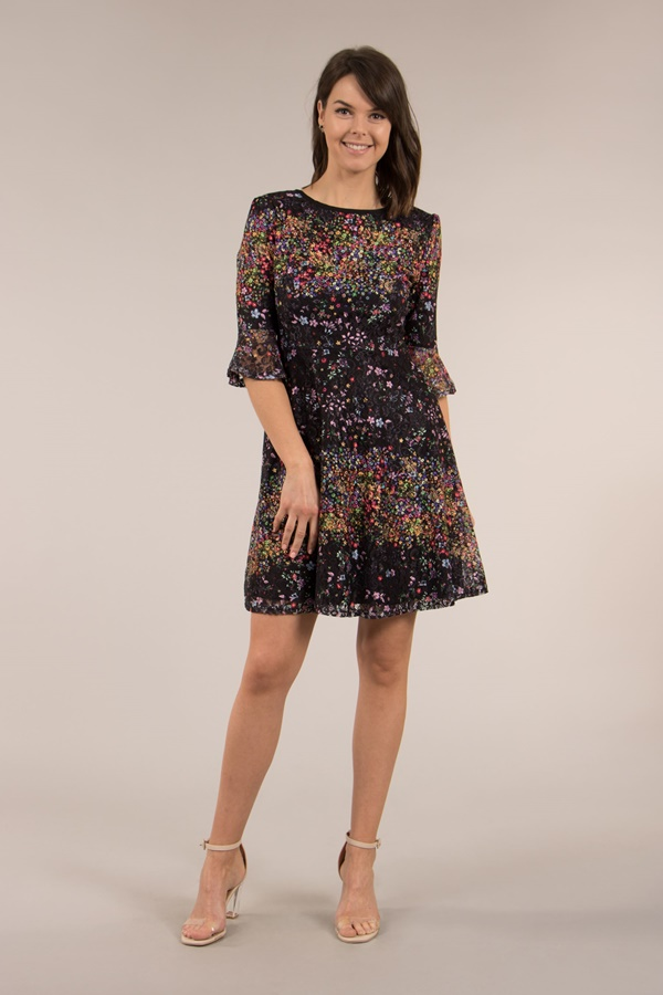 Lace 3/4 Sleeves Dress