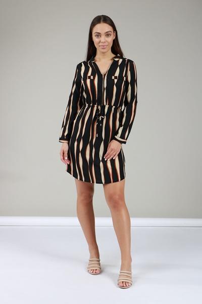 f7bea6dc8a2ee7 STRIPE PRINT SHIRT DRESS