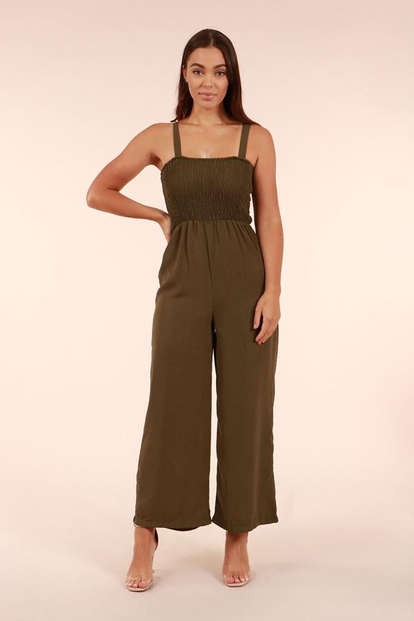 Shirred bodice   jumpsuit