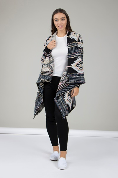 Aztec Waterfall Cardigan