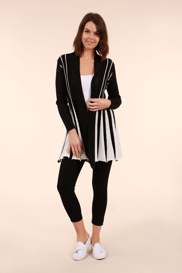 Two Toned Knit Cardigan