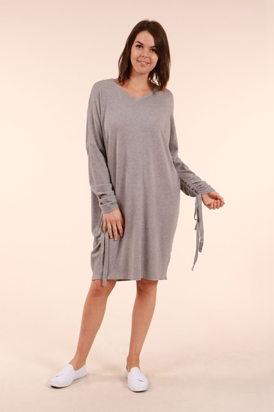 Tie Sleeve Knitted Dress