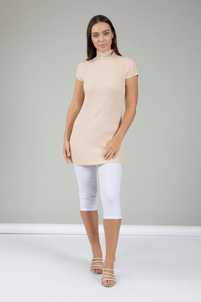 d221b431c93 High Neck Knitted Dress