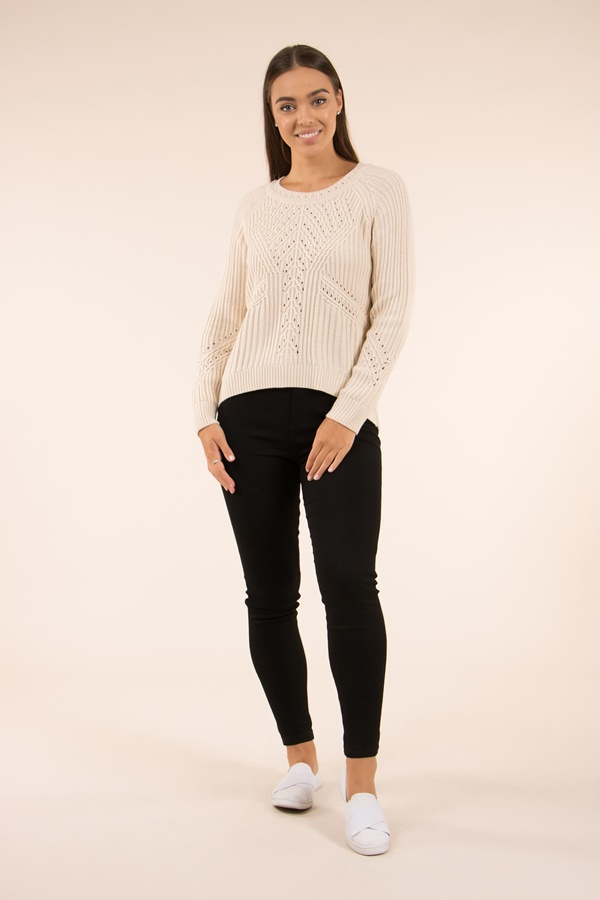 POINTELLE Knit Pullover