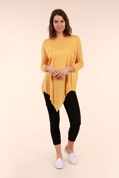 Asymmetrical Hem Sweater