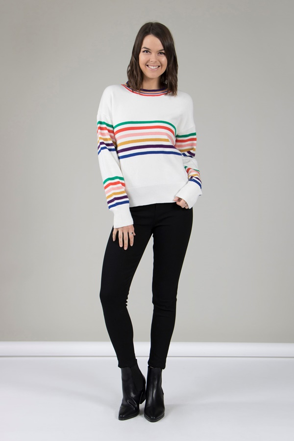 IVORY STRIPE JUMPER