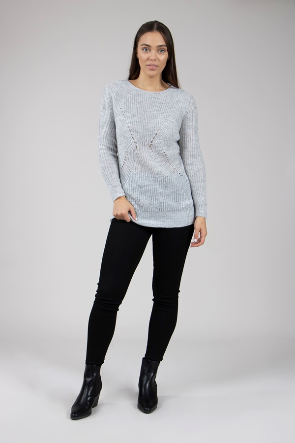 Chunky Knit Boucle Jumper