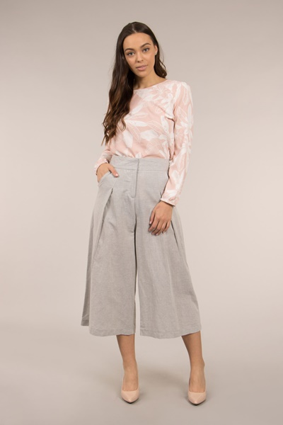 Crop Leg Pants with Waist Tie
