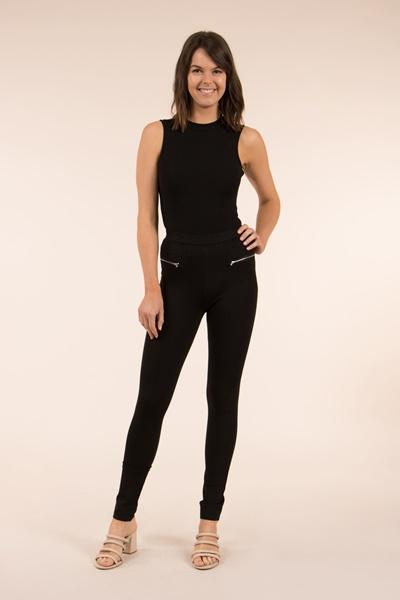 Slim Side Zip Trim Pants
