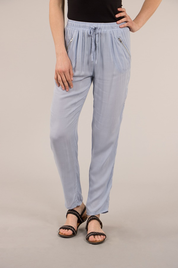Elastic Waist Pant with Front Tie