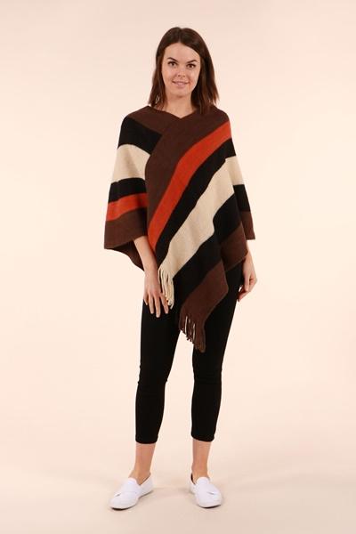 Stripe Poncho