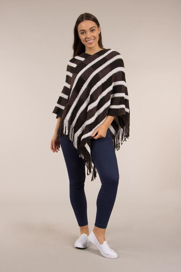 Striped Blanket Wrap