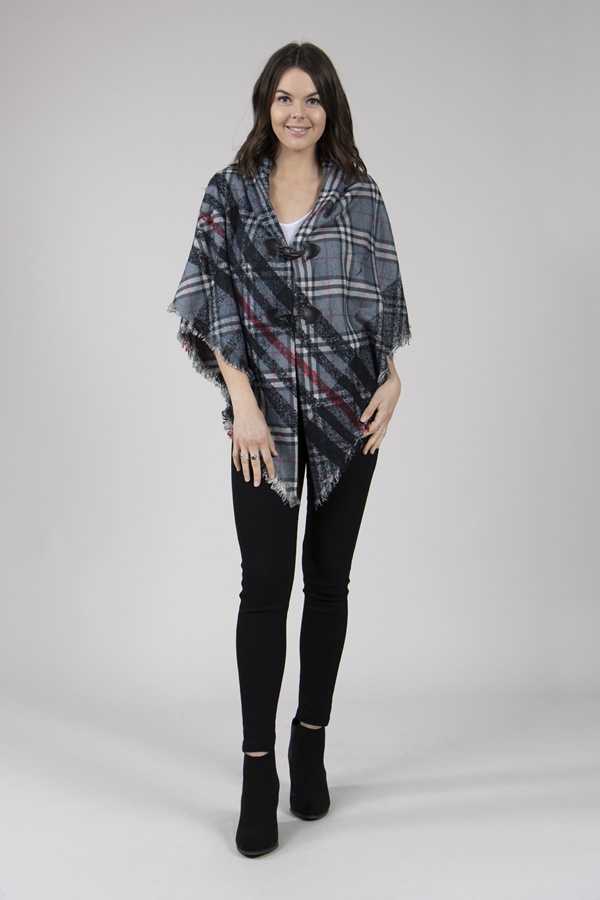 Toggle Front Poncho