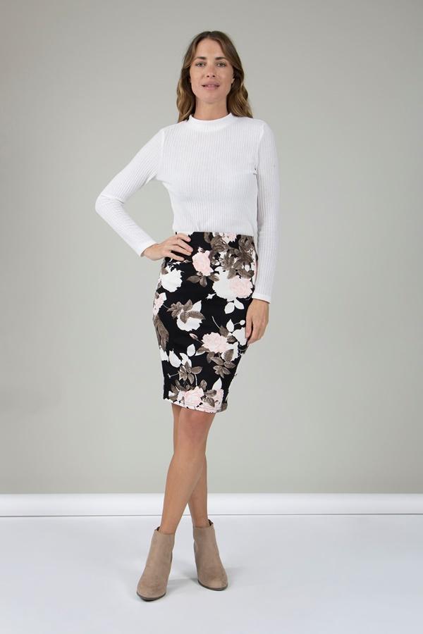 Printed Knee length Skirt
