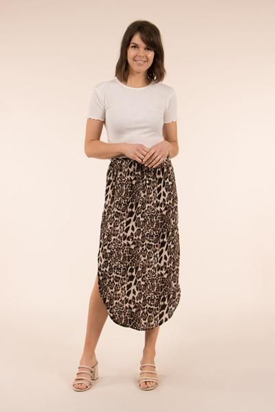 Animal Print Maxi Skirt