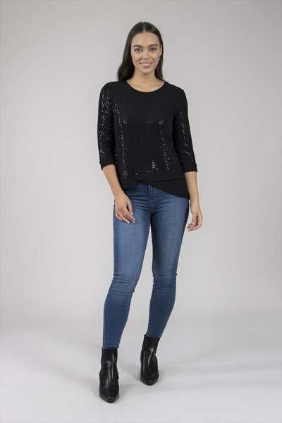 Sparkle Layered Top
