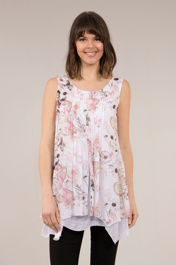 Floral Double Layer Top