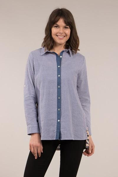 Stripe/Animal Print Shirt