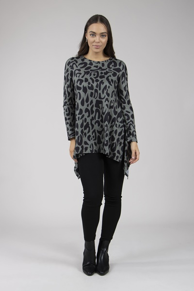 Animal Print Tunic Top
