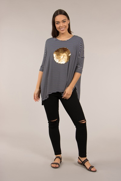 3/4 Sleeve Oversize Top