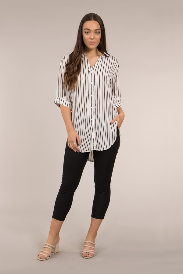3/4 Sleeve Shirt with Side Ties