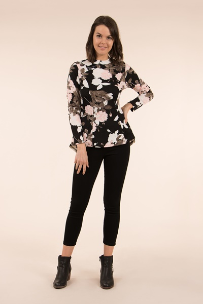 Printed Fit and Flare Top