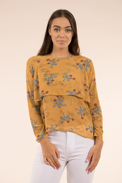 d023d82893e4f7 PRINTED OVERLAY BLOUSE – T501994   FEMME Connection