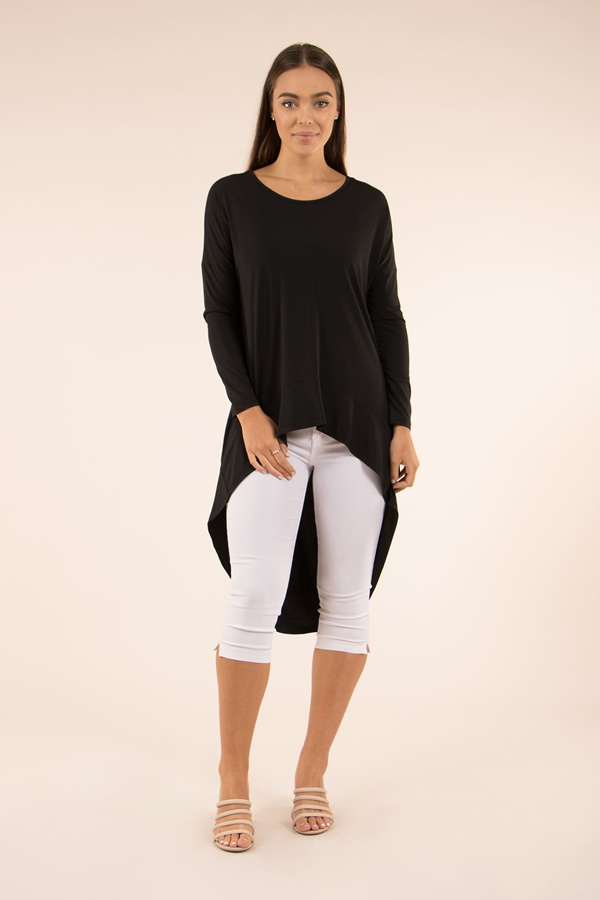 Jersey High Low Tunic Top