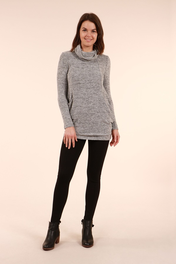 Longline Tunic with Scarf