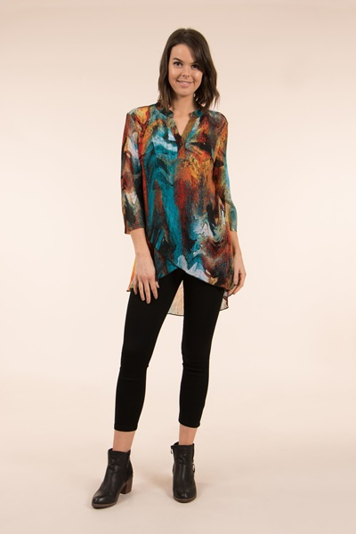 3/4 Sleeves Printed Top