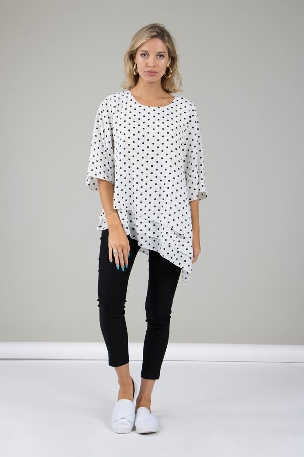 Flare Sleeve Printed Top