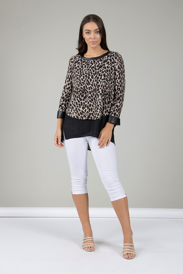 Leopard Layered Top