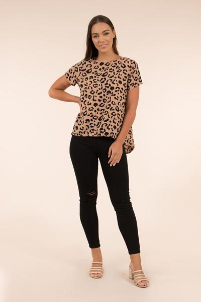 Leopard short sleeves top