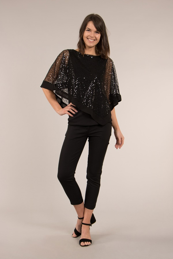 Double Layer Top with Sequin