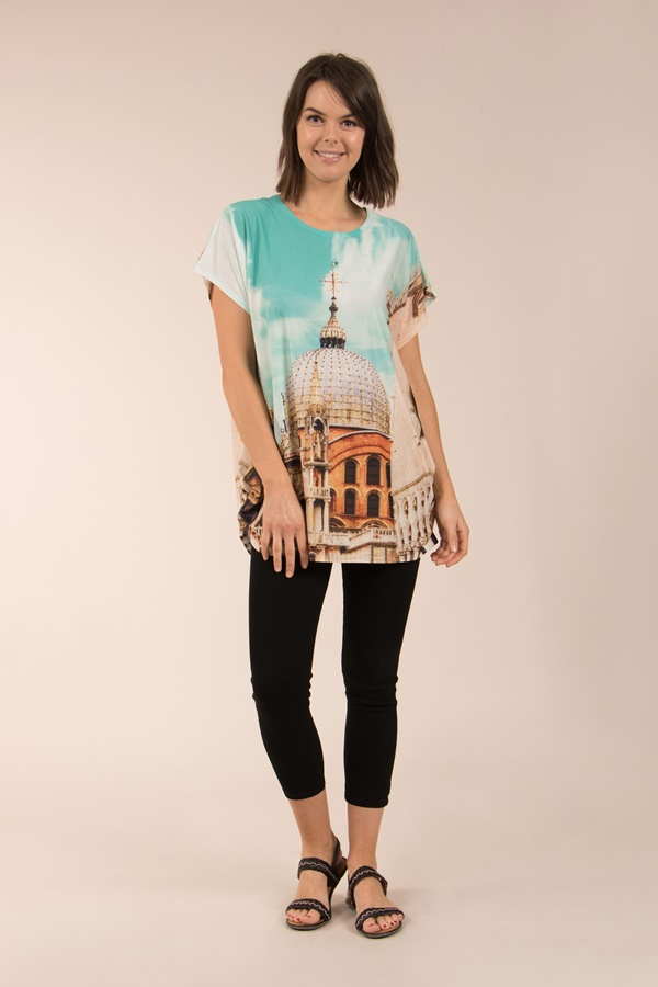 Short Sleeves Printed Top