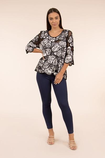 Relaxed Sleeve Lace Blouse