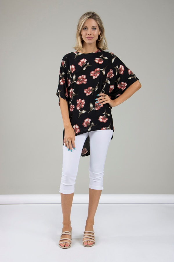 Floral Boxy Top